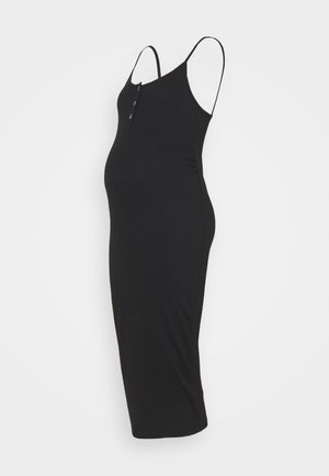 BUTTON FRONT CAMI DRESS - Day dress - black