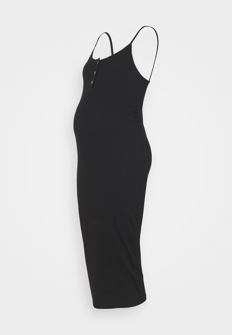 Missguided Maternity - BUTTON FRONT CAMI DRESS - Day dress - black