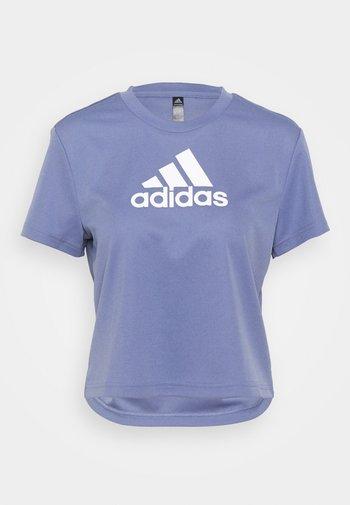T-shirts med print - orbit violet/white