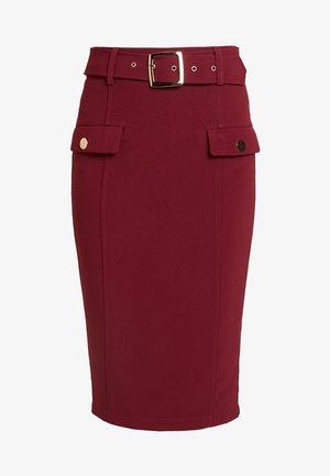 MELANIE - Pencil skirt - wine
