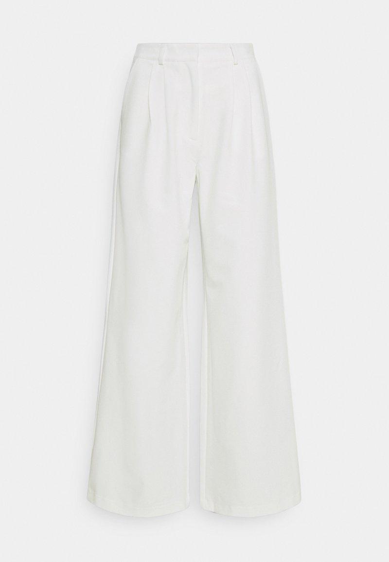 YAS - YASBILLA WIDE PANTS CELEB - Trousers - star white