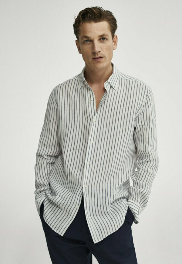 Massimo Dutti Koszula - blue-black denim/czarnoniebieski denim Odzież Męska LUMP