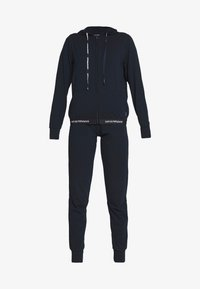 Emporio Armani - JACKET AND PANTS WITH CUFFS SET - Pyjama set - blu navy - 4