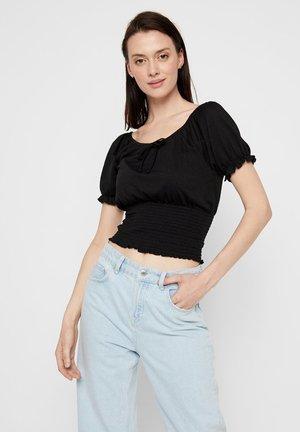 PCANNIE - T-shirt imprimé - black