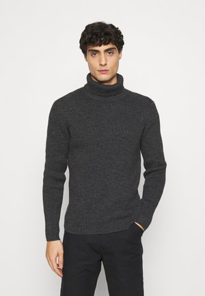 TURTLE NECK - Jumper - dark grey melange