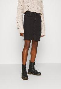 ONLY - ONLEMILY LONG SKIRT MAE - Pencil skirt - black - 0