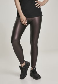Urban Classics - Leggings - Trousers - redwine - 0