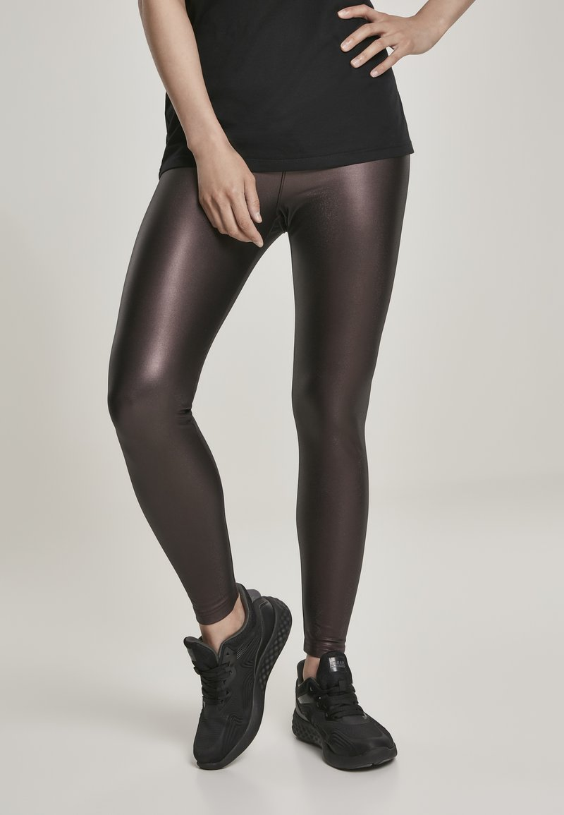 Urban Classics - Leggings - Trousers - redwine