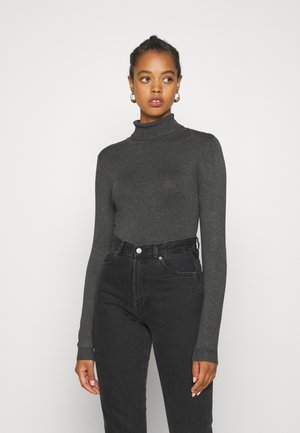 VMGLORY ROLLNECK - Jumper - dark grey melange