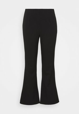 FLARED TROUSERS - Kangashousut - black
