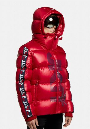 PRIME SLICK RACER - Down jacket - cherry red/navy