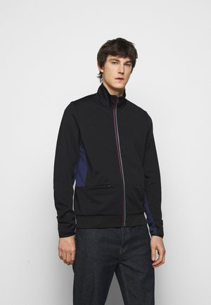 MENS ZIP TRACK - Zip-up hoodie - black