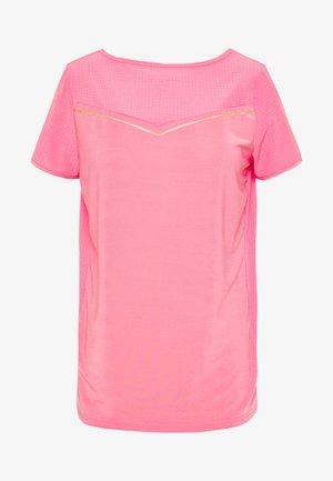 ONPJEWEL BOATNECK TRAINING TEE - Camiseta estampada - strawberry pink/gold
