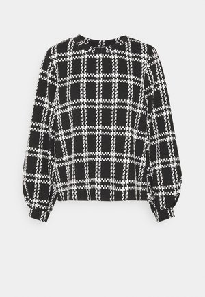 JDYDOVER CHECK  - Sweater - black/cloud dancer