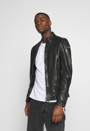 DEACON - Leather jacket - black