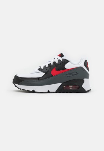 AIR MAX 90 UNISEX - Sneakers basse - white/university red/iron grey/black
