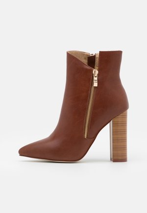 TOP UP KEYLA WIDE FIT  - High heeled ankle boots - tan