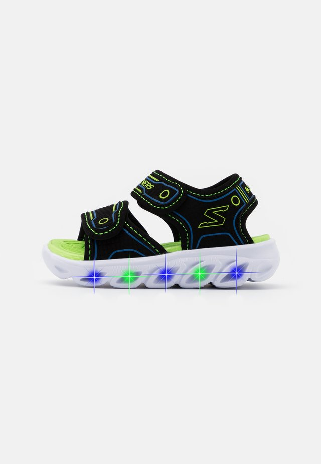 HYPNO SPLASH - Sandals - black/blue/lime