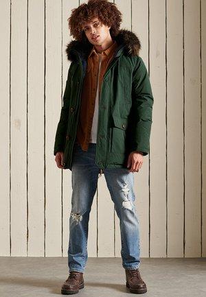 Winter coat - emerald green
