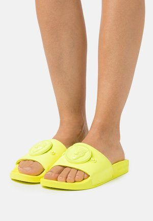 Domácí obuv - neon yellow