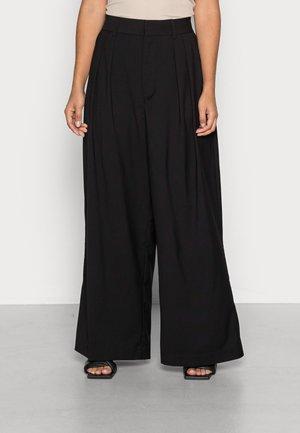 OLIVIA TROUSERS - Kalhoty - black