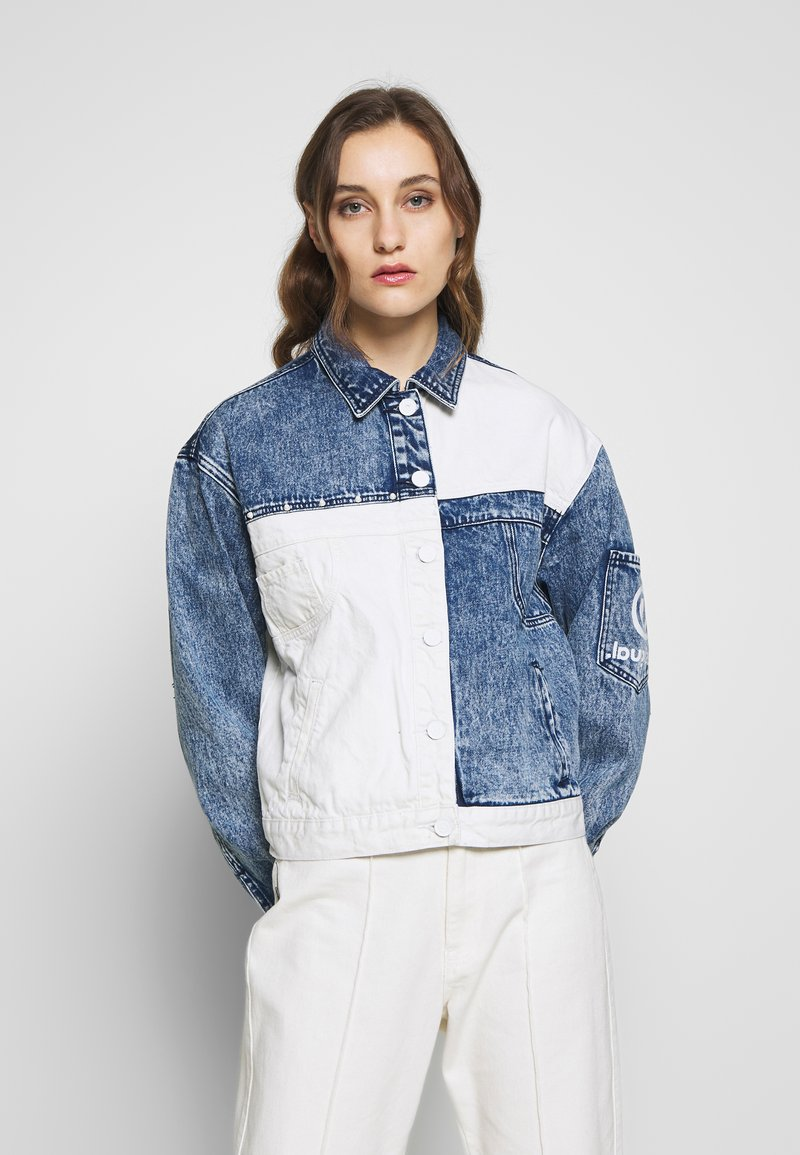 Desigual - LOLLYPOP - Kurtka jeansowa - blue deinm/white