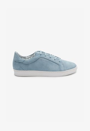 White Signature Leather - Trainers - blue