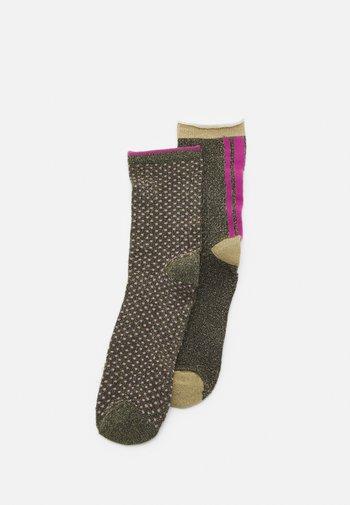SHIMMER PASHA SOCK 2 PACK - Socks - olivine