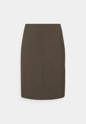 VIOLINA - Pencil skirt - turkish coffee