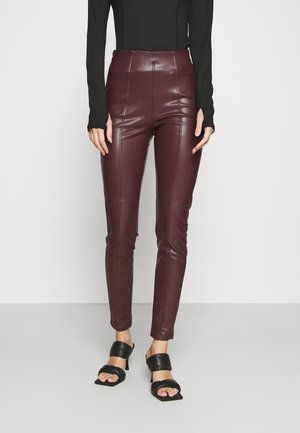 Leggings - Trousers - dark burgundy