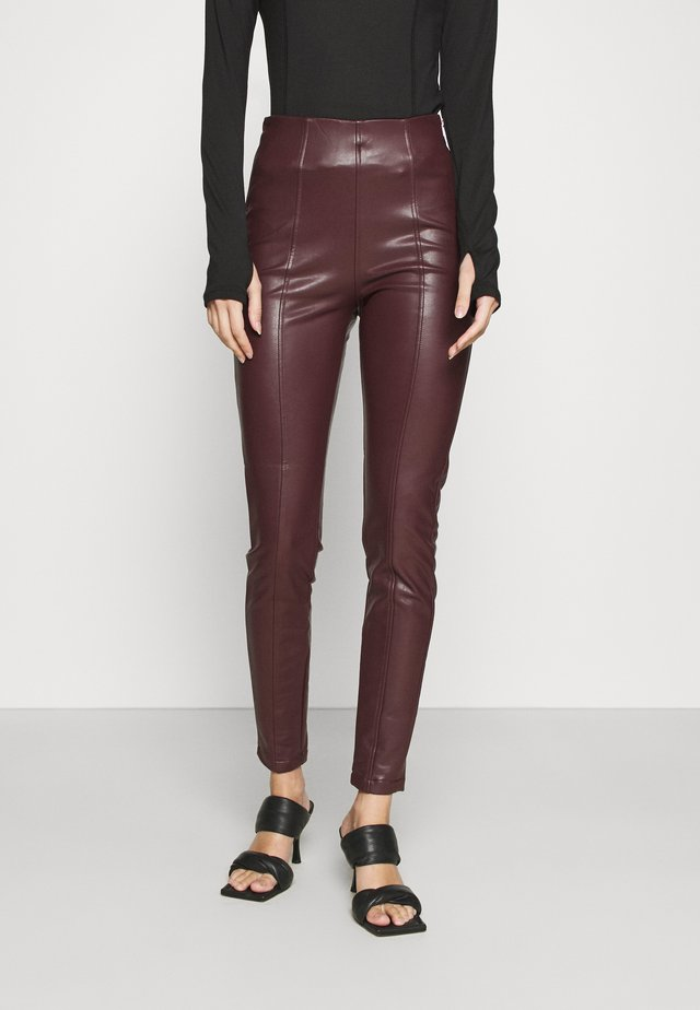 Leggings - dark burgundy