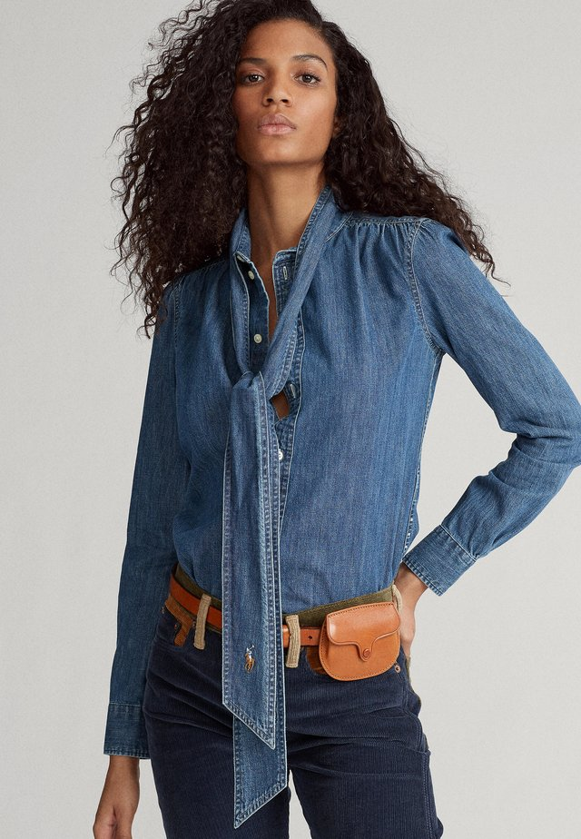 Overhemdblouse - medium indigo