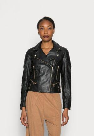 Kožená bunda - noir
