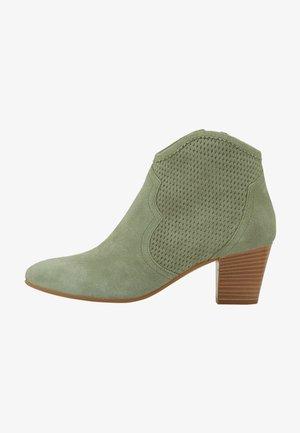 Cowboy/biker ankle boot - mint
