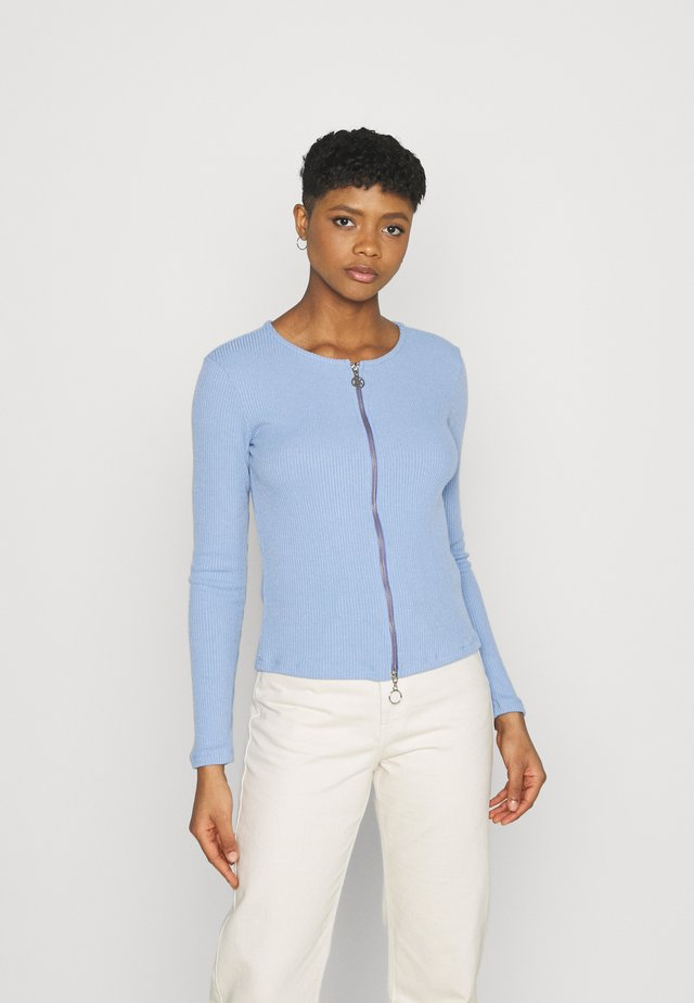 DOUBLE ZIPPER LONGSLEEVE  - Neuletakki - light blue