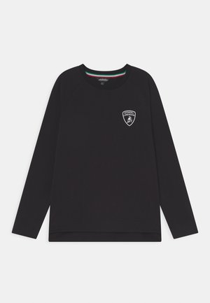 SOLID COLOUR - Long sleeved top - black