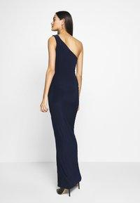 Club L London - ONE SHOULDER RUCHED WAIST MAXI DRESS - Occasion wear - navy - 2