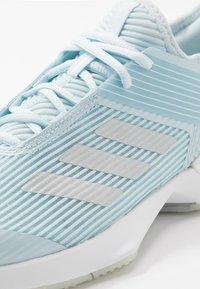adidas Performance - ADIZERO UBERSONIC 3 - Multicourt tennis shoes - sky tint/silver metallic/footwear white - 5