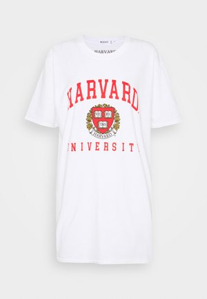 HARVARD LICENCE GRAPHIC OVERSIZED TEE - Camiseta estampada - white