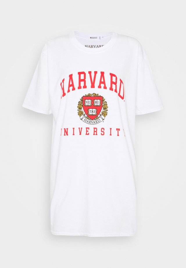 HARVARD LICENCE GRAPHIC OVERSIZED TEE - T-shirt z nadrukiem - white