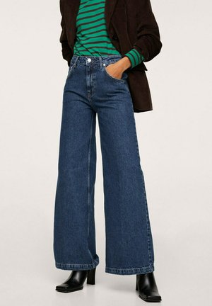 MIT HOHER TAILLE - Flared Jeans - dunkelblau