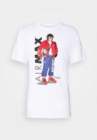 Nike Sportswear - TEE MANGA HYPEMAN - Print T-shirt - white - 4