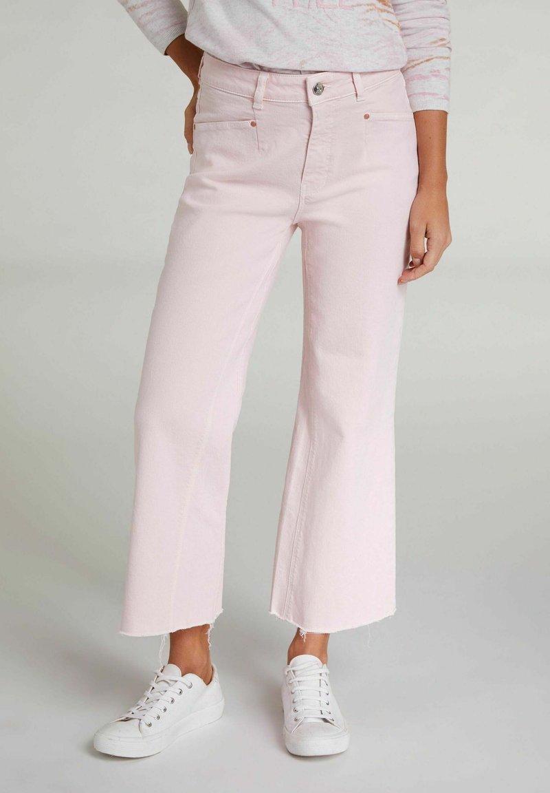 Oui - CULOTTE - Flared Jeans - peach whip