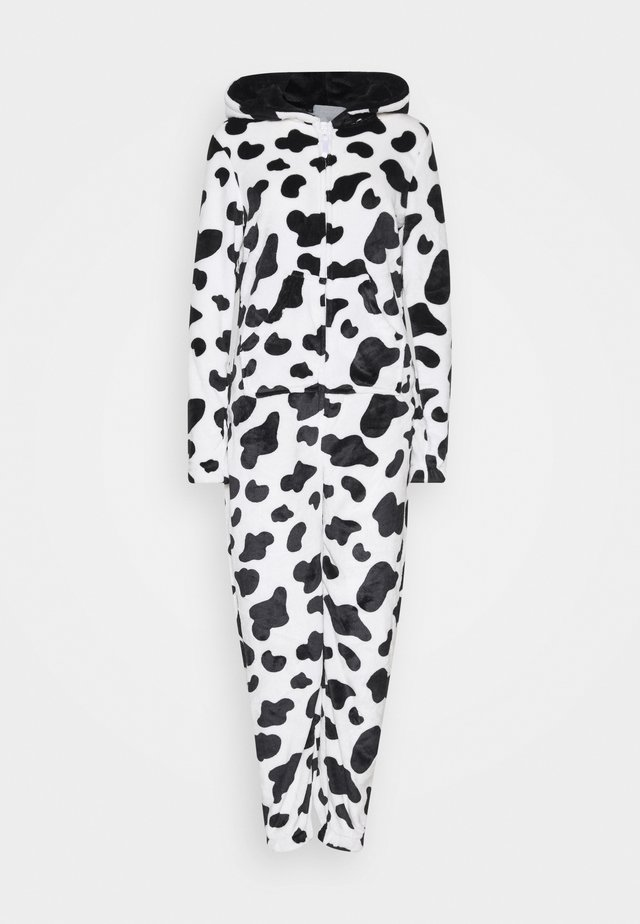 COW PRINT ALL IN ONE WITH EARS - Pyjamas - black/white