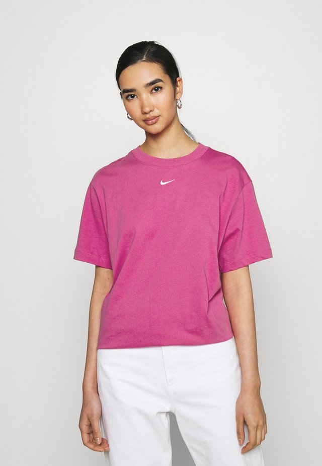 T-shirt con stampa - active fuchsia/white