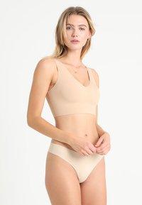 Calvin Klein Underwear - LINED BRALETTE V NECK - Bustier - beige - 1