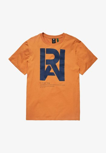 GRAPHIC RAW - T-shirt med print - amber