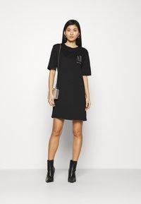 Armani Exchange - VESTITO - Jersey dress - black - 1