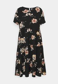 ONLY Carmakoma - CARLUXCILLE SS MIDI DRESS  - Day dress - black - 4