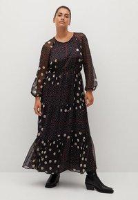 Violeta by Mango - Maxi šaty - schwarz - 0
